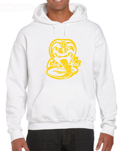 цена на Top Quality Men O Neck COBRA KAI Karate RETRO Cotton Graphic Movie Print Hoodies Sweatshirt