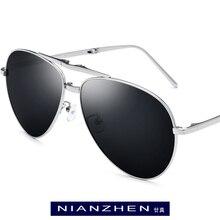 التيتانيوم النقي النظارات الشمسية الرجال للطي الطيران الاستقطاب مكبرة 2019 حار العلامة التجارية مصمم Aviador نظارات شمسية للرجال ظلال 1190