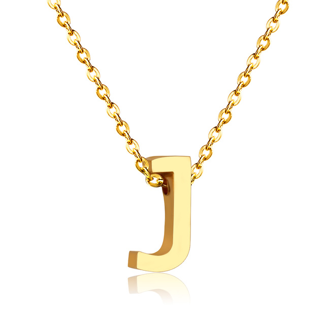 New letter j pendant necklace in pendant necklaces from jewelry new letter j pendant necklace aloadofball Images