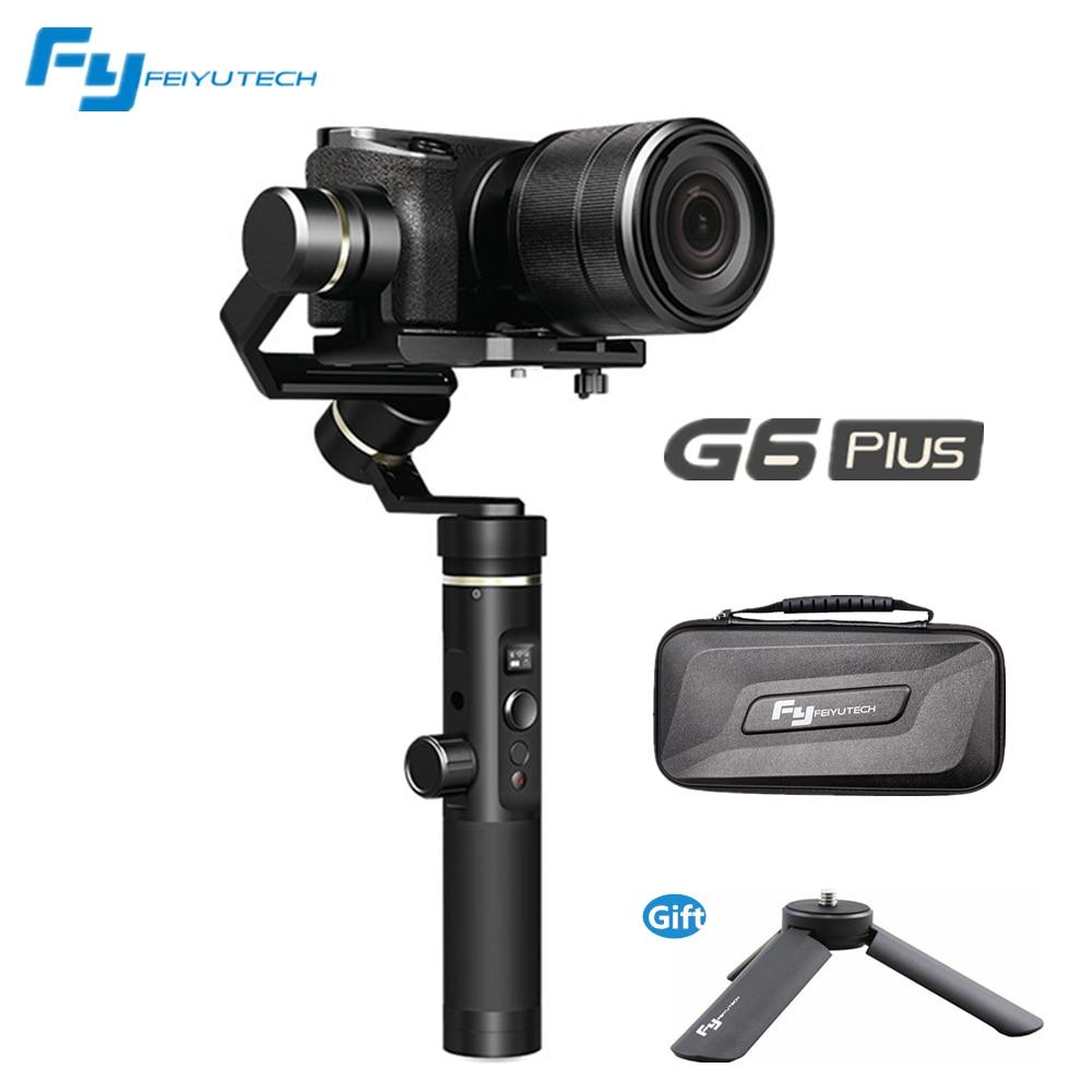 Feiyu G6 Plus stabilisateur anti-secousse poche panoramique/inclinaison pour Canon Sony micro unique iphone X 8 7 s xiaomi téléphone intelligent caméra GoPro