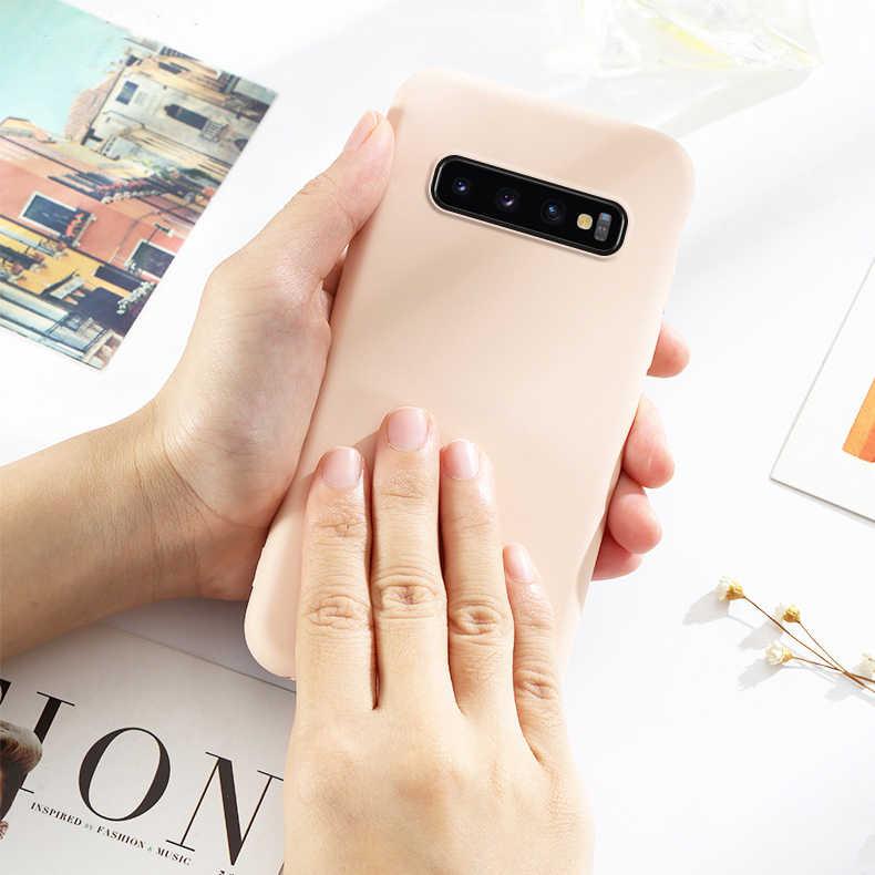 Iboily Ban Đầu Mềm Mùa Hè Chất Lỏng Ốp Lưng Silicon dành cho Samsung Galaxy Samsung Galaxy S10 S9 S8 Plus S10E A6 A8 J4 J6 A7 2018 Mặt Sau Trường Hợp