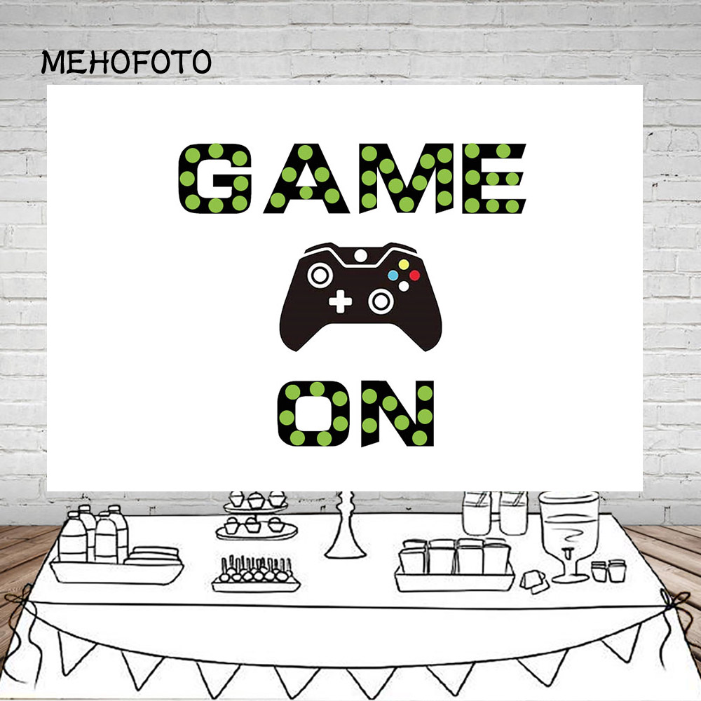 Vinyl Photography Background Video Games Level Boy Birthday Party Custom Children Backdrop Photo Booth Studio image