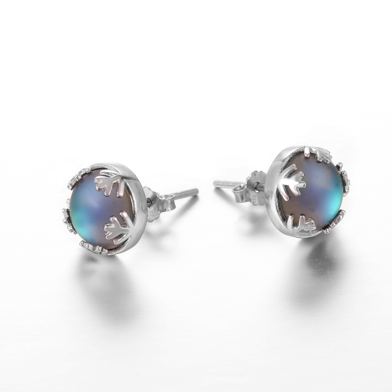 Moonlight Ladies Fashion Aurora Borealis Earrings s925 Silver Stud Elegant Jewelry Birthdays Romatic Gift for Women 4