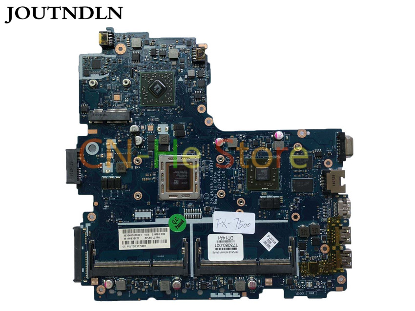 JOUTNDLN FOR <font><b>HP</b></font> Probook <font><b>455</b></font> G2 Laptop <font><b>Motherboard</b></font> 773080-001 ZPL45/55 LA-B191P W/ FX-7500 CPU and R7 M265 2GB GPU 100% work image