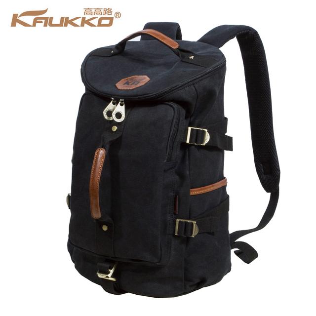KAUKKO Large Capacity Shoulder Bag Mens Canvas Backpack Laptop Daypacks  Unisex Bags for Teenager School Knapsacks Duffel Bags 2fe80d8e74e49
