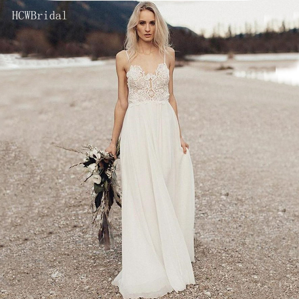 Sexy Backless Spaghetti Strap Wedding Dresses Sweetheart A