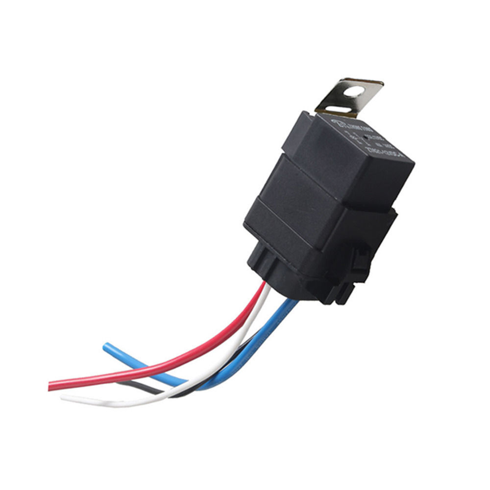 Ee Support 12v 40a Spst Relay Socket Plug 4p 4 Wire Kit Waterproof Wiring A Spdt Iron Car Motor Xy01 In Switches Relays From Automobiles Motorcycles On