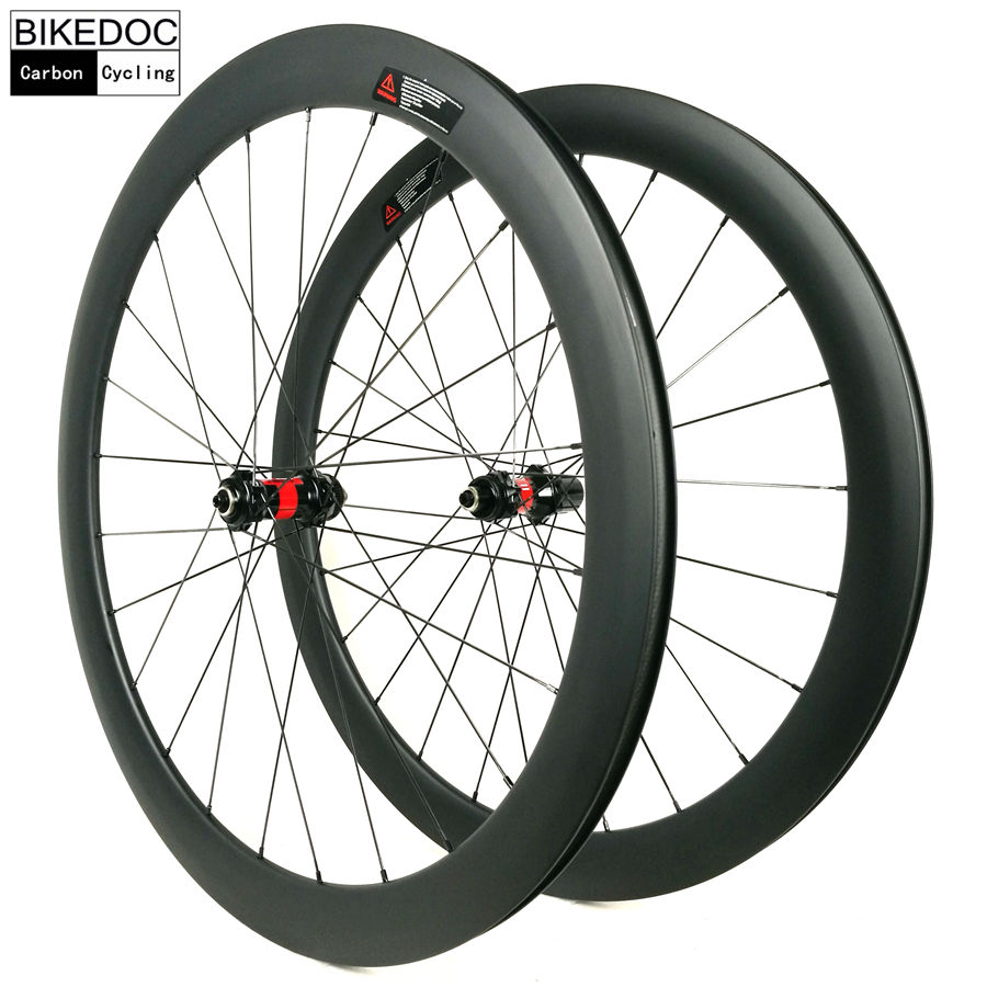 BIKEDOC Carbon Bicycle Wheel DT240S Hub Sapim Cx-Ray Road Bike Wheelset 50MM Clincher 25MM U Shape 700C smileteam 50mm clincher oem decals dt350 hub sapim cx ray spokes carbon wheelset high quality carbon 700c road bike wheels