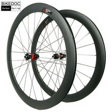 BIKEDOC Carbon Bicycle Wheel DT240S Hub Sapim Cx-Ray Road Bike Wheelset 50MM Clincher 25MM U Shape 700C