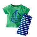 1 peças varejo novo algodão casual crianças meninos conjunto de roupas ternos da criança tanque verão com calças e cabeça