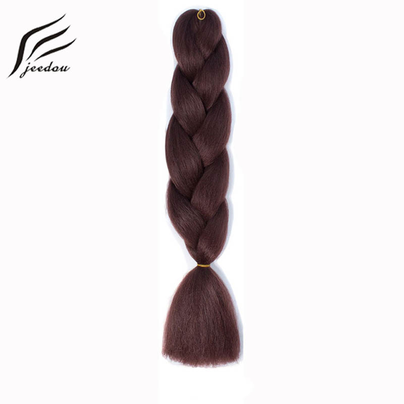 "jeedou Crochet Braids Natural synthetic Long Long 24 ""100g / Lot Blue Pink Color DIY Braiding Hairstyles Creativity Hairpiece"