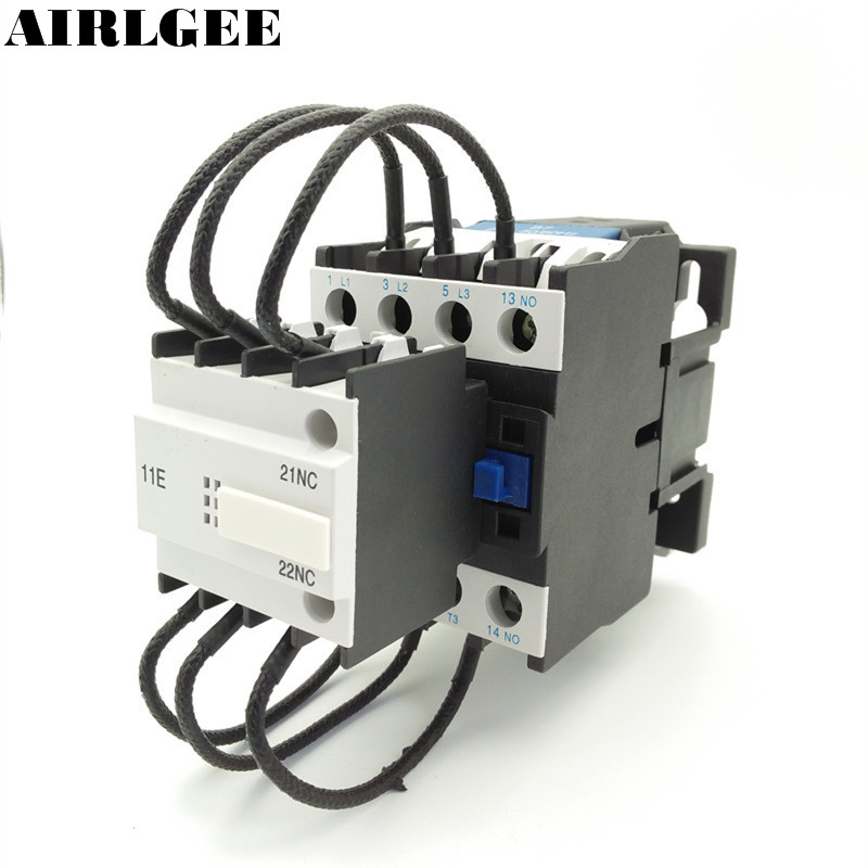 цена на CJ19-32 24V 36V 110V 220V 380V Coil 32A 3 Pole 1NO Switch Auxiliary Contact NC Over Capacitor AC Contactor