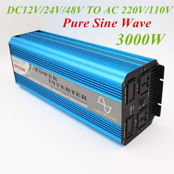 цена на Pure Sine Wave Inverter Peak 6000W Inverte 3000W Power 12V 220V