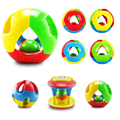 3Pcs Plastic Baby Toys Jingle Ball Rattle Rolling Ball Ring Bell Grasp Toy Intelligence Training Toys for Kids