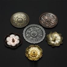PINNY Metal Circle Incense Holder Alloy Dragon Carving Stick Burner Tea Ceremony Accessories Lotus Zen Decor