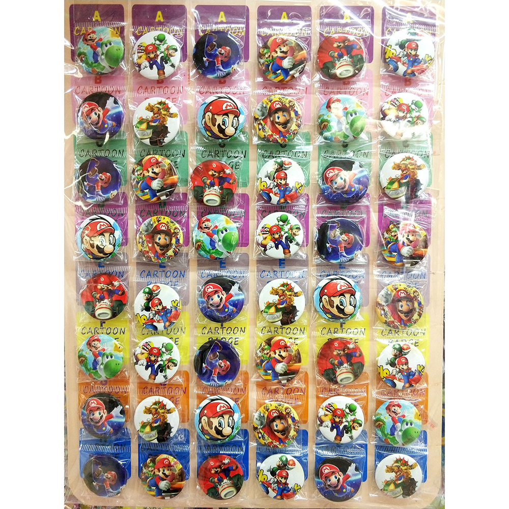 Love Thank You Super Mario Odyssey 30MM 48pcs lot PINBACK BADGE BUTTON BROOCH BAG GIFT TOY CLOTH Cartoon anime COLLECTIBLE цена