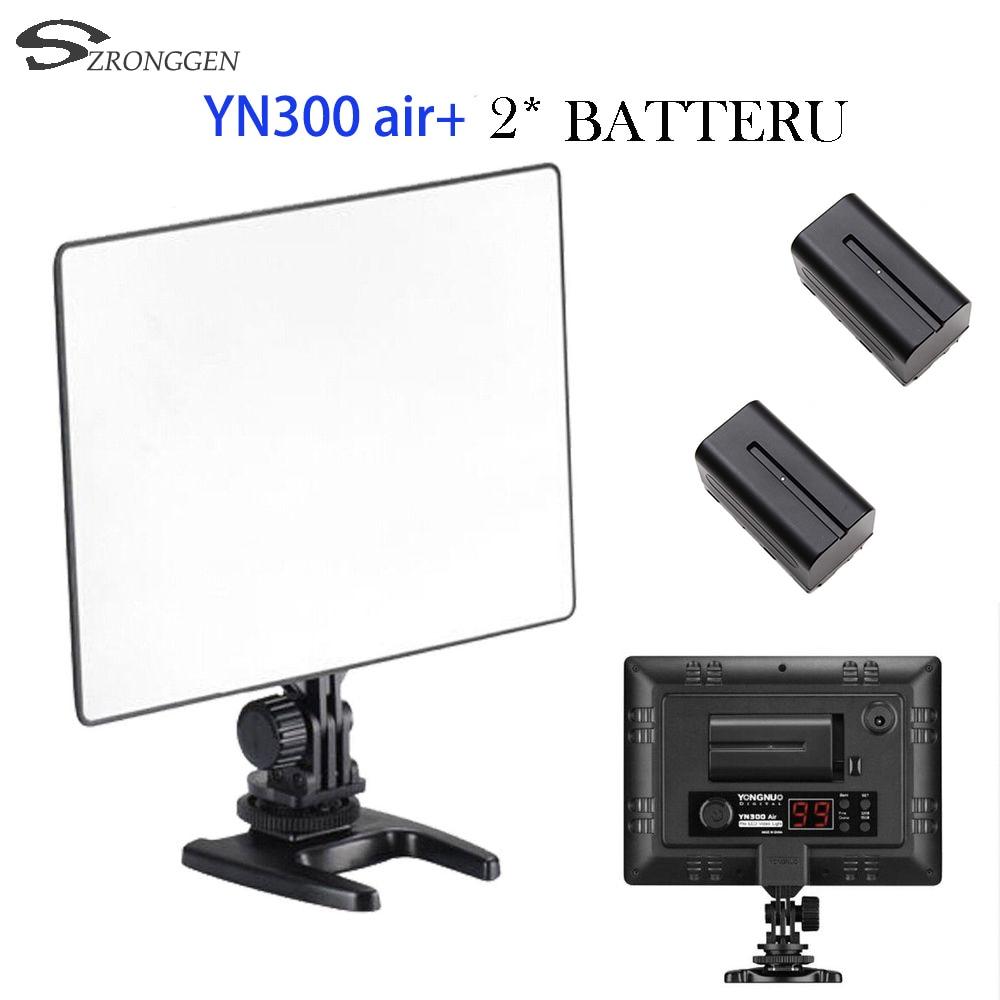 bilder für Yongnuo yn300 air yn-300 air yn 300 air pro led-kamera-videoleuchte für canon nikon + 2 * batterie
