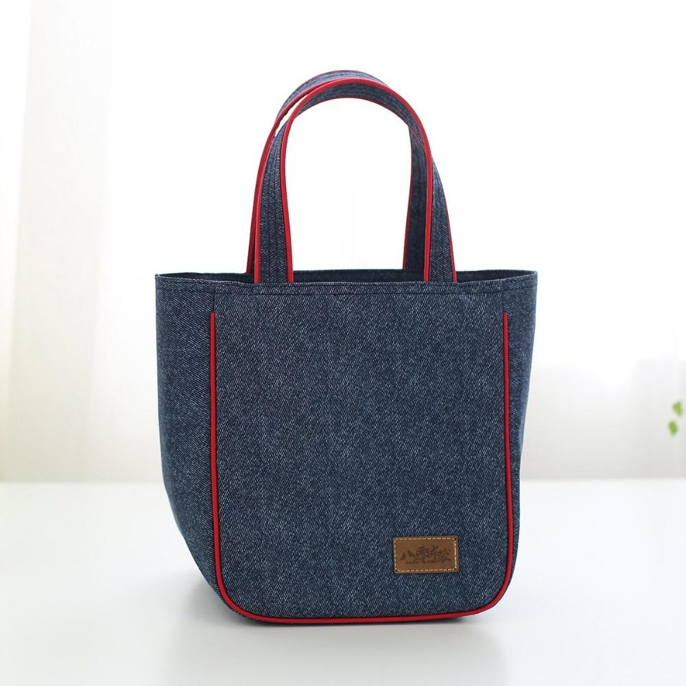 2017 New Fashion Portable Insulated Denim Lunch Bag