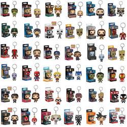 41 модели оригинальный Funko Карманный Брелок для ключей pop игрушки Мстители паук Капитан Супермен Бэтмен чудо женщина Рождество подарки