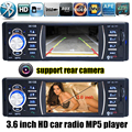 NOVO 3.6 polegada tft Suporte Câmera Traseira Do bluetooth rádio Do Carro filme MP5 MP4 12 V Vídeo player de áudio Estéreo do carro FM USB/SD/MMC