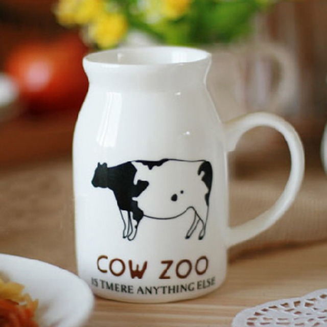 office coffee cups. Interesting Office 1Pcs New KEYAMA Medium Ceramic Jars Breakfast Milk Mugs Cows Smiley Stamp Office  Coffee Cup Home To Coffee Cups