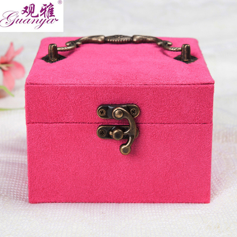 Guanya Wholesale portable jewellery storage boxes jewelry holder for your wife gift makeup organizer