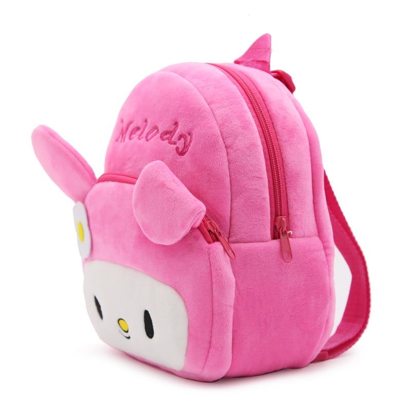 1-3 Years Infant Cute Baby Cartoon Rabbit Melody Plush Backpack Preschool Children Schoolbag Kindergarten Girls Kids School Bags