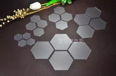10pcs Plastic Hexagon Patchwork Templates 22mm / 35mm / 40mm Handmade DIY Tools Grandmother Garden Hexagonal