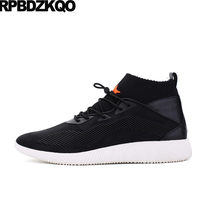 Comfort Breathable Men Shoes Casual Fashion High Top Trainers New China 2017 Black Spring Hot Sale
