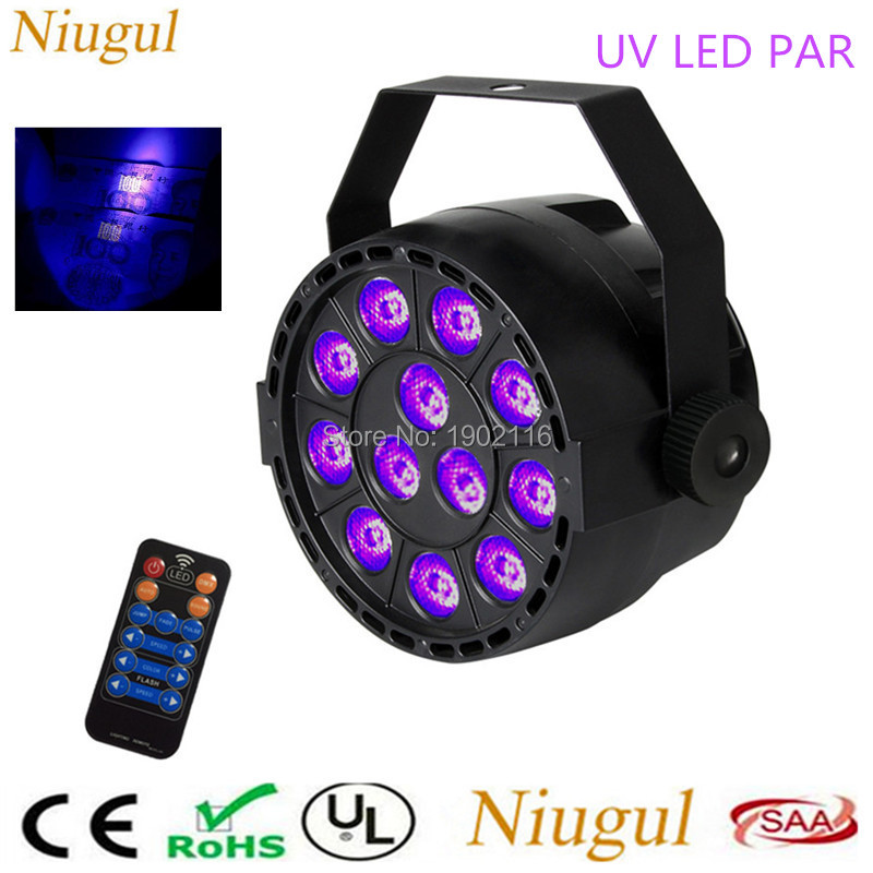 With Remote control 36W UV Led Stage light Ultraviolet Led par Light for Stage KTV Party Pub Club Disco DMX512 Purple LED lamp 36w uv led stage light black light par light ultraviolet led spotligh lamp with dmx512 for disco dj club show party decoration
