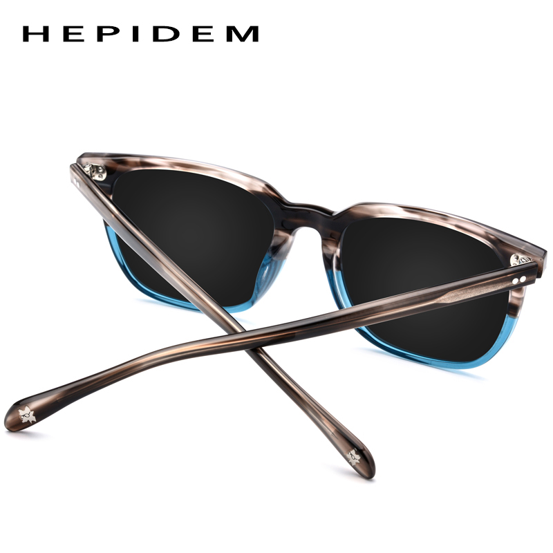 Image 4 - Acetate Polarized Sunglasses Men 2019 New High Quality Vintage Square Sun Glasses for Women Men's Korea Goggles Sunglass 9114-in Men's Sunglasses from Apparel Accessories