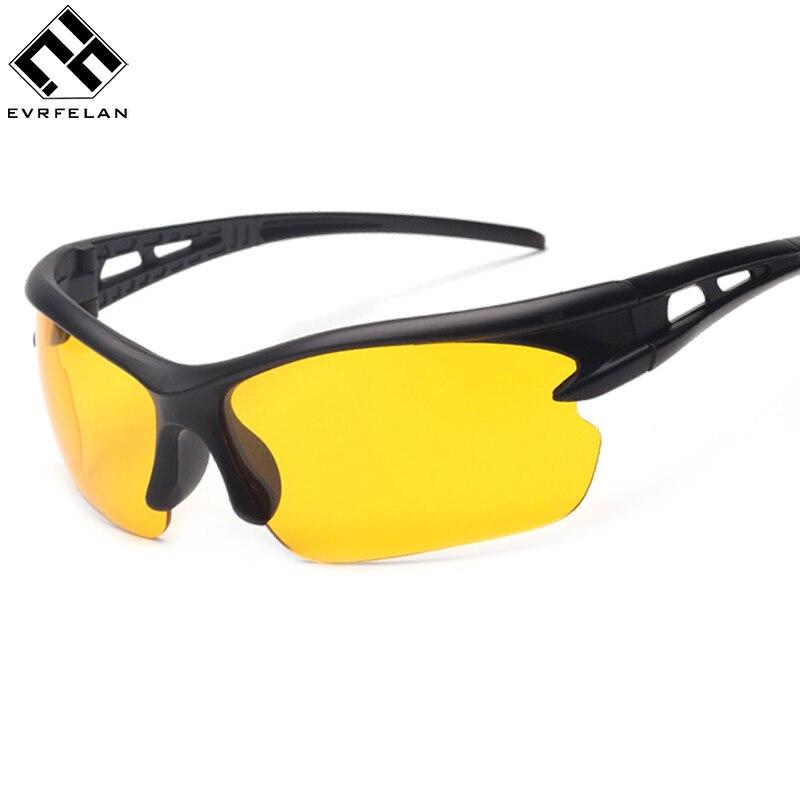 Evrfelan Goggles Sunglasses Night-Driving Yellow UV400 Classic Lens Men Gafas Unisex