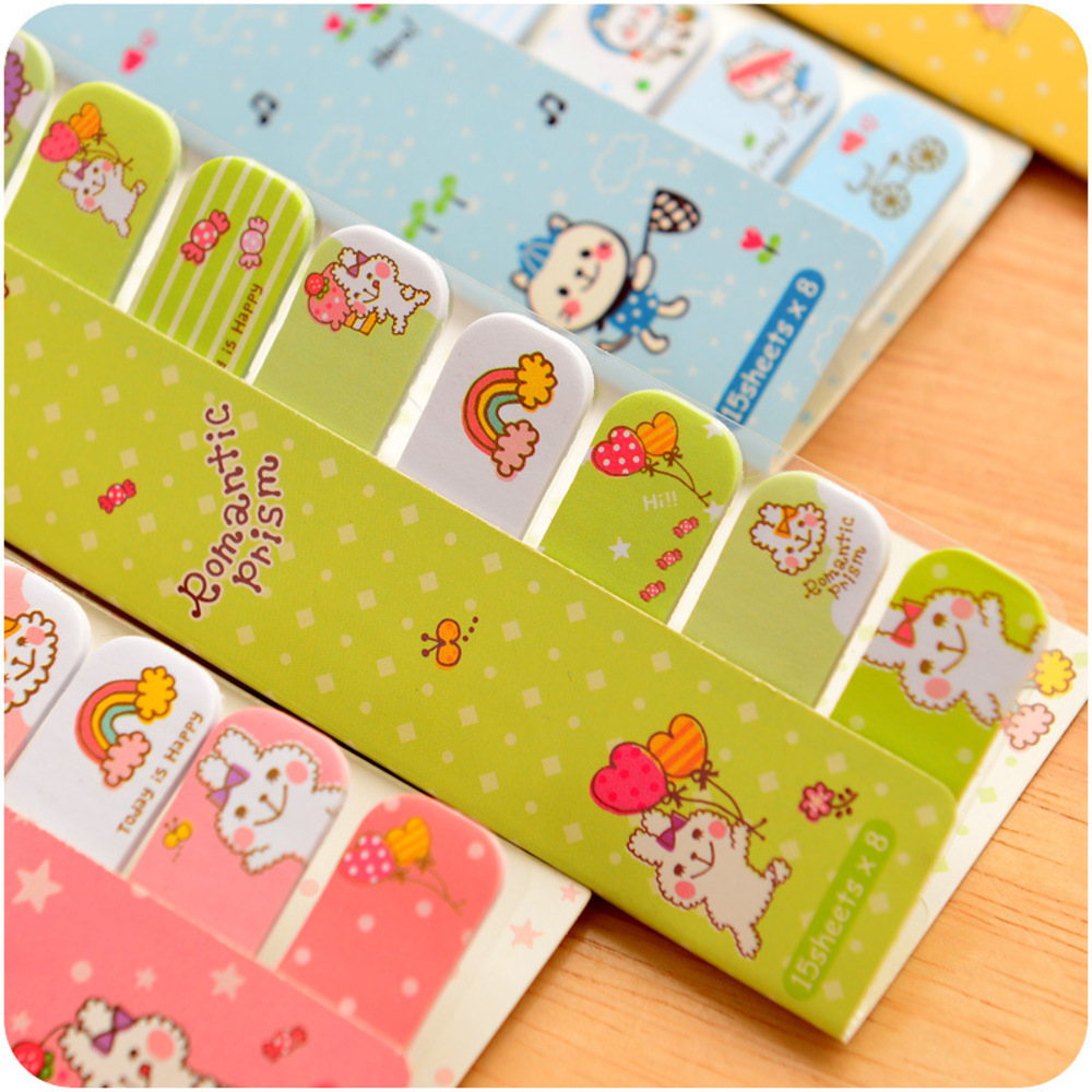 Student Cute Kawaii Cartoon Animal Memo pad Paper Stickers Lovely Days Post It Note for Kids School Supplies 2557 WJ-BJB-21/