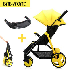 Fast shipping !Brand lightweight umbrella carts with baby tray trolley High landscape baby stroller  folding carry on the plane
