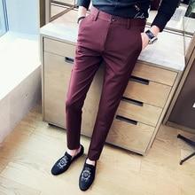 2019 new fashion Mens Casual Pants high