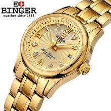 Hot Promotion Women Rhinestone Gold Wristwatches Ladies Fashion Full CZ Diamond Bling Steel Dress Watch woman