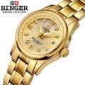 Promoção Hot Mulheres Strass Ouro Relógios de Pulso Das Senhoras Moda Completa CZ Diamante de Bling mulher Binger Relógios Relógio De Vestido De Aço