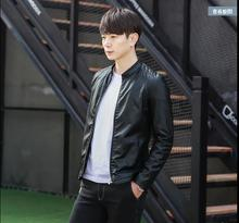 M-3XL!!! 2017 spring leather jacket slim casual men's clothing cool trend of the PU clothing
