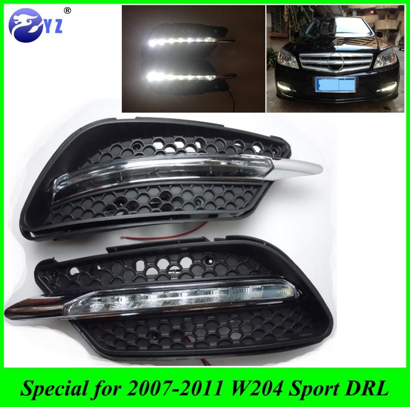 1set drl for mercedes w204 c260 c300 sport 2007 2008 2009 for 2008 mercedes benz c300 parts