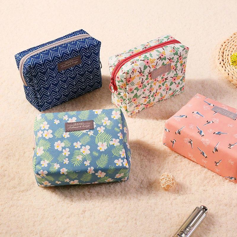 1PC Sweet Floral Cosmetic Bag Travel Organizer Portable Beauty Pouch Toiletry Kit Mini Purse Makeup Pouch Makeup Wash Bag