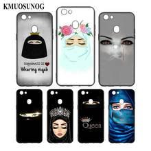 Silicone Phone Bag For OPPO F5 F7 F9 A5 A7 R9S R15 R17 Black Soft Case Niqab Girl Style