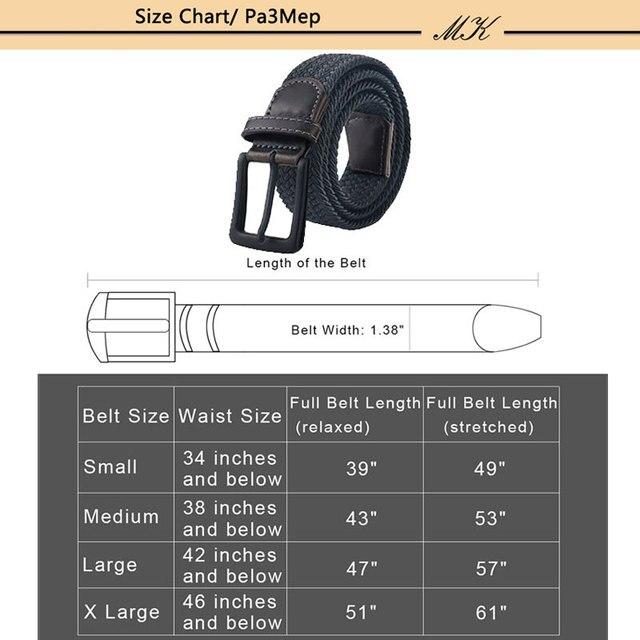 Ремень мужской холщовый для брюк 6