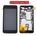 Para nokia lumia 530 n530 lcd display + touch screen digitizer + bisel marco de montaje completo, envío gratis