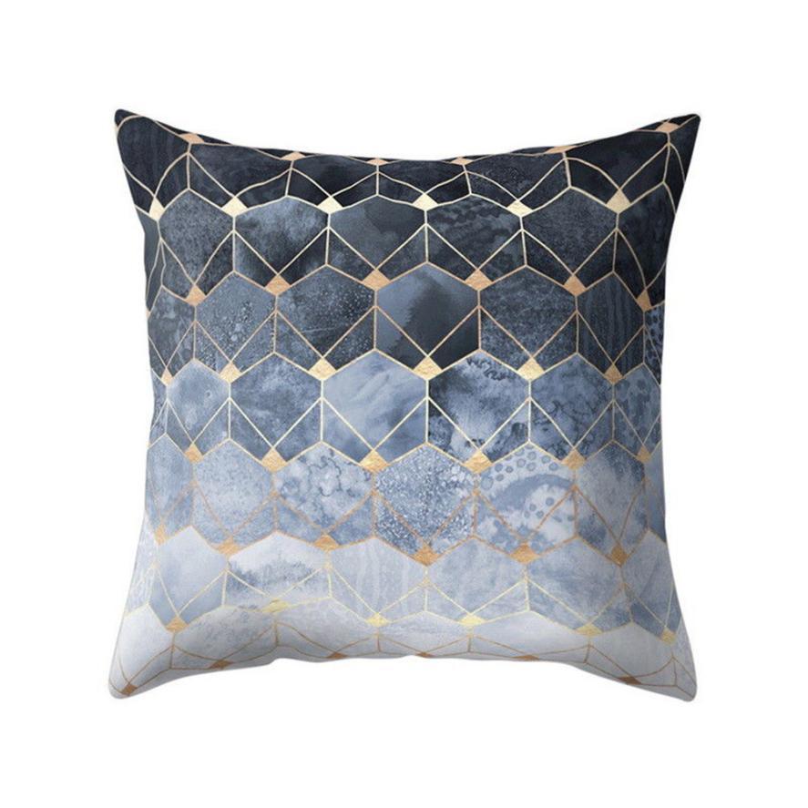 Home Decor Gold Foil Printing Pillow Case Sofa Waist Throw ...