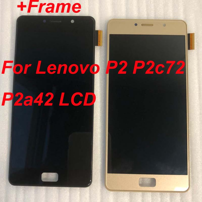 100 Original AAA For 5 5 Lenovo Vibe P2 LCD Display Touch Screen Digitizer Assembly With