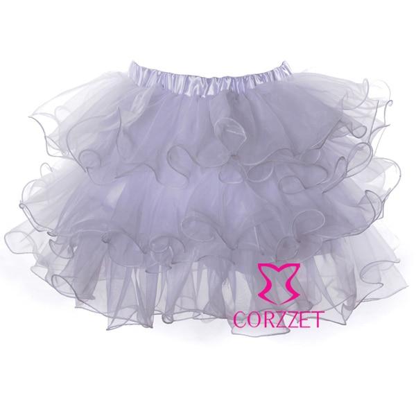 Fashion M XL XXL Plus Size Adults Women White Ruffles Sexy Mini Tutu Skirt Dresses Underskirt Pettiskirts For Matching Corset