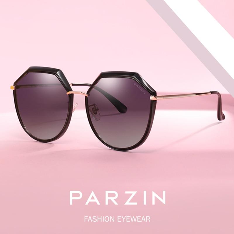 PARZIN Polarized Sunglasses Women New Metal Polygon Frame Women Sun Glasses Oversized Ladies Glasses For Driving