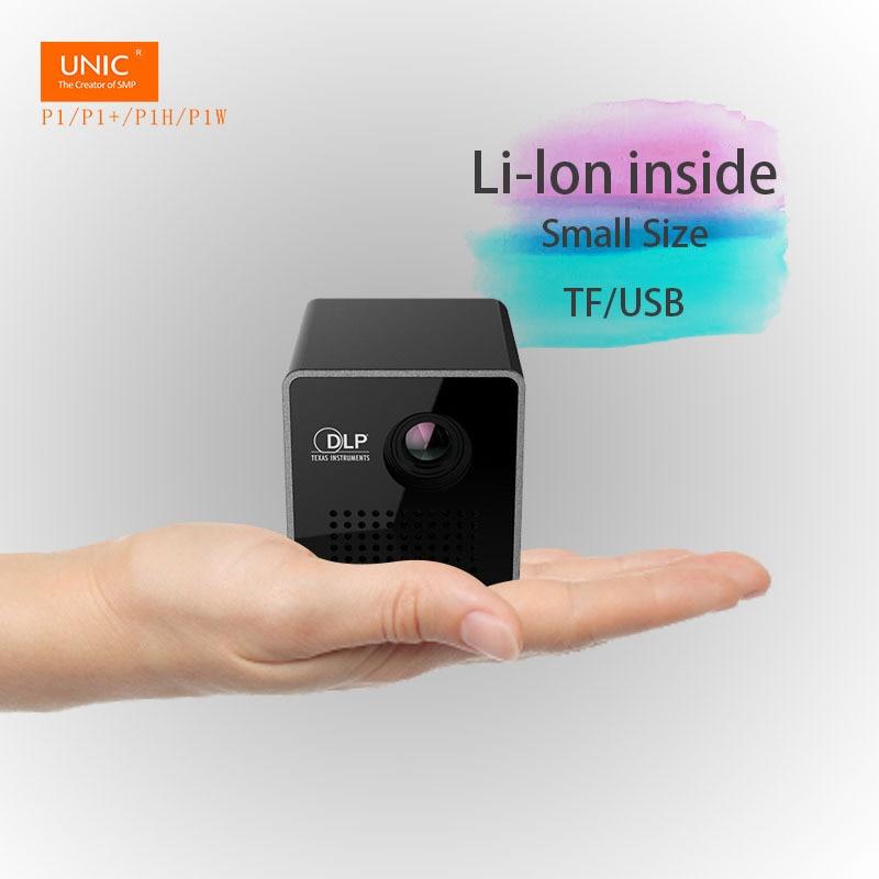 UNIC Mini projecteur P1 portable poche taille Pico DLP projecteur Micro TF/USB faisceau intelligent Home cinéma