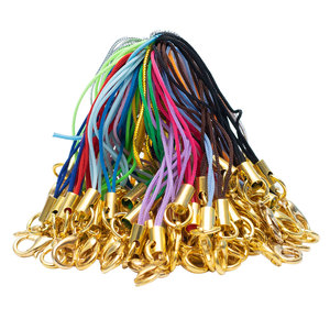 100 pçs do telefone móvel corda lagosta fecho ouro cordão diy acessórios feitos à mão conector gancho prendedor fazendo