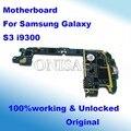 Original y desbloqueado para samsung galaxy s3 i9300 de la placa base placa base placa lógica mainboard versión de la ue con fichas completas